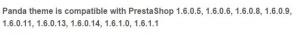 Versión Prestashop 1.6